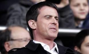 Le Premier ministre Manuel Valls le 7 mars 2015 au Parc des Princes.