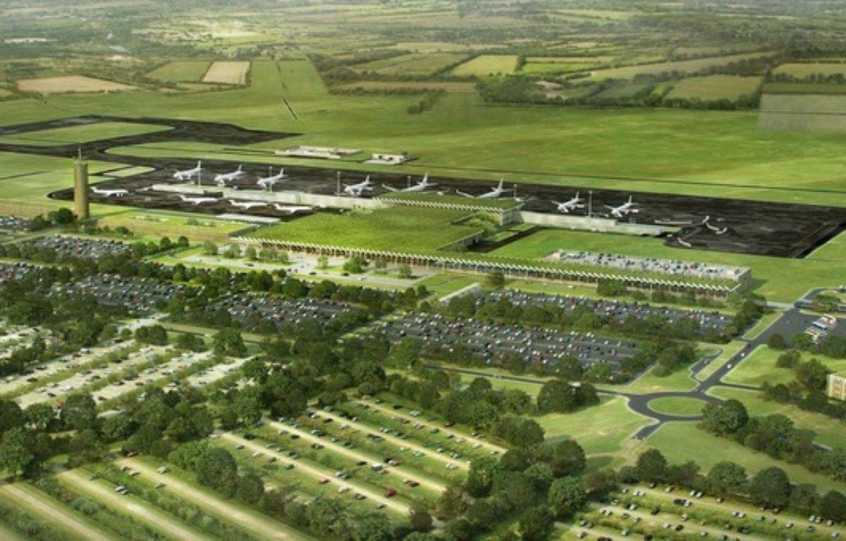 Image de synthèse du projet d'aéroport de Notre-Dame-des-Landes. – AGO
