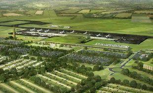 Image de synthèse du projet d'aéroport de Notre-Dame-des-Landes.