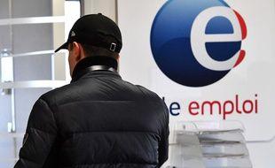 Un homme dans une agence Pôle emploi à Montpellier (illustration)
