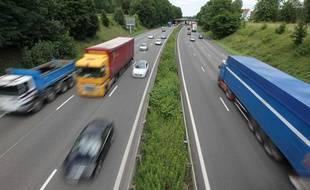 Circulation sur l'autoroute A4, le 11 juillet 2012.