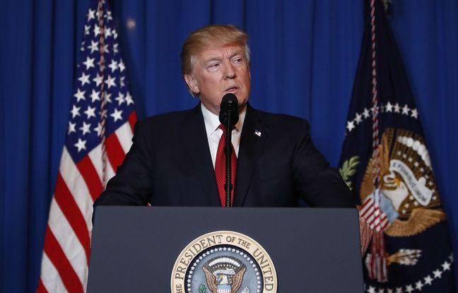 Le président américain Donald Trump annonce avoir ordonné une frappe ciblée en Syrie, le 6 avril 2017.
