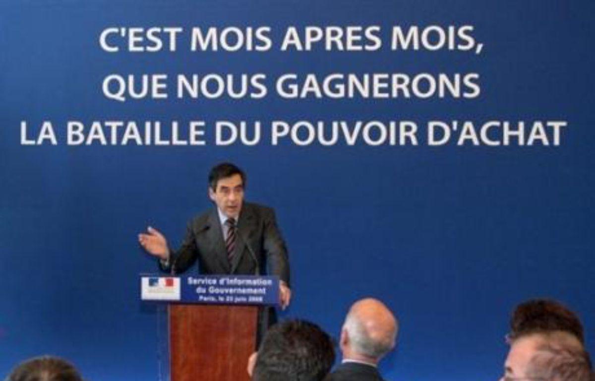 François Fillon a lancé lundi une campagne de publicité sur les mesures en faveur du pouvoir d'achat, qui sera déclinée pendant trois semaines à la télévision, sur internet et dans la presse. – Jacques Demarthon AFP