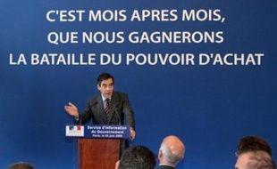 François Fillon a lancé lundi une campagne de publicité sur les mesures en faveur du pouvoir d'achat, qui sera déclinée pendant trois semaines à la télévision, sur internet et dans la presse.
