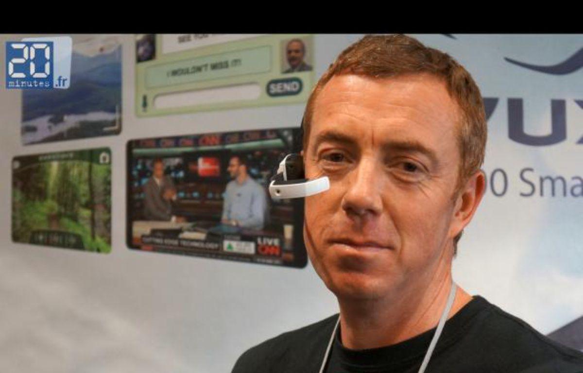 Les smart glasses de Vuzix devraient être disponible dans la seconde moitié de 2013, à moins de 500 dollars. – P.BERRY/20MINUTES
