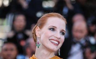 L'actrice Jessica Chastain au Festival de Cannes