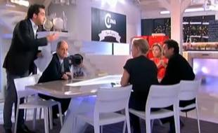 Patrick Cohen et Edwy Plenel se sont disputés sur le plateau de «C à vous», le 6 janvier 2014.