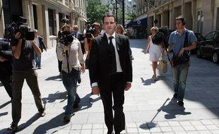 Paris, le 23 juillet 2008. Jérôme Kerviel arrive au pôle financier du parquet de Paris.