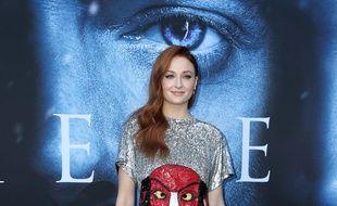 L'actrice Sophie Turner au lancement de la saison 7 de Game of Thrones