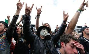 Illustration d'un festival de metal. Ici au Hellfest à Clisson.