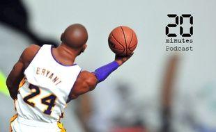 Illustration d'une figurine de Kobe Bryant, star américaine du basketball