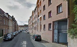 La rue Jules-Guesde, à Saint-pol-Sur-Mer.
