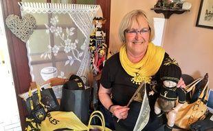 Danièle Couillaud est à la tête du club de supporters « Agir avec le XV Rochelais »