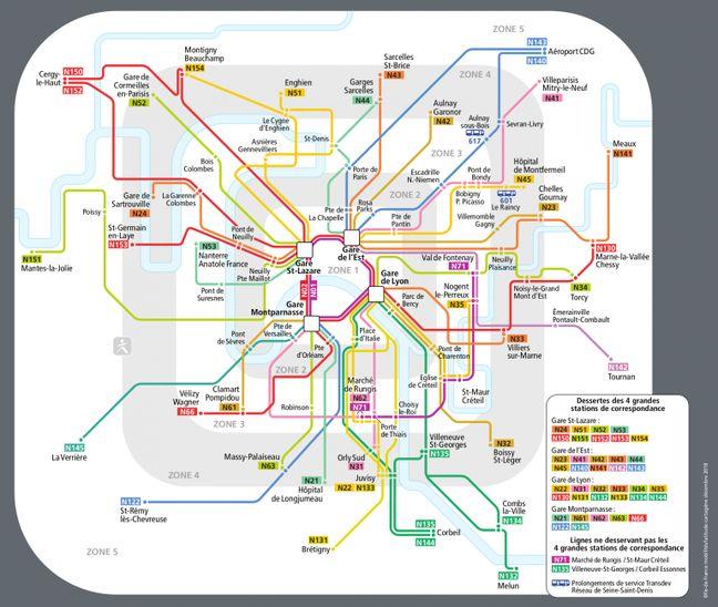 Le réseau Noctilien sera adapté et évitera l'hypercentre de la capitale.
