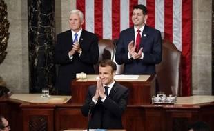 Emmanuel Macron a prononcé un discours devant le Congrès américain le 25 avril 2018.