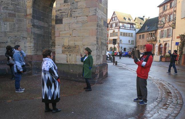 Touristes chinois à Colmar (Alsace) le 12 février 2019