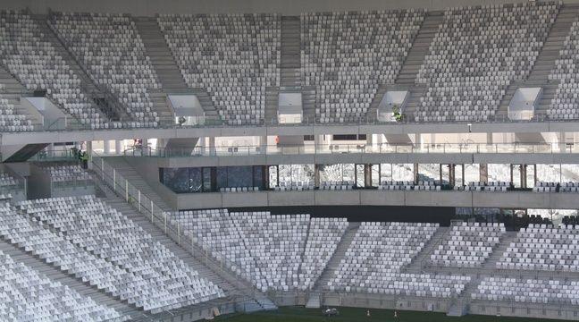 Le 11 fevrier 2015, visite du chantier du Nouveau stade de Bordeaux –