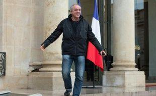 Le porte-parole du Nouveau parti anticapitaliste (NPA), Philippe Poutou (ici sortant de l'Elysée le 7 décembre 2012) de nouveau candidat à l'élection présidentielle en 2017
