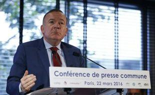 Le président du Medef, Pierre Gattaz, le 22 mars 2016, à Paris
