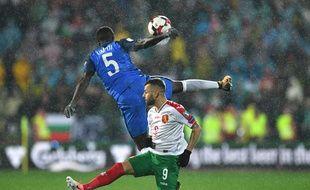 Les Bleus face à la Bulgarie lors des matchs de qualifications de la Coupe du Monde 2018, à Sofia le 7 octobre 2017.