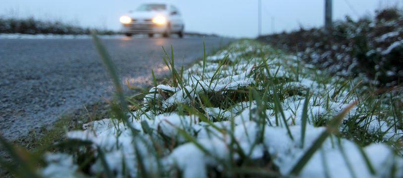 La neige était un peu tombée en Ille-et-Vilaine le 21 janvier 2015.