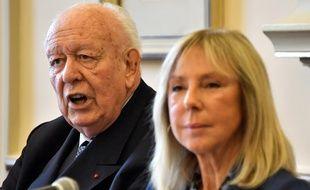 Jean-Claude Gaudin et Arlette Fructus lors d'une conférence de presse