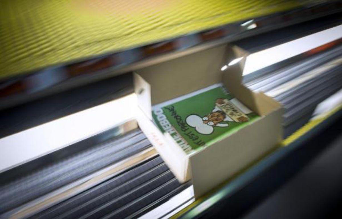 Le prochain numéro de Charlie Hebdo sous presse à Villabe près de Paris, le 13 janvier 2015 – Martin Bureau AFP