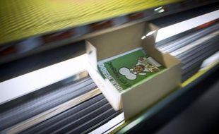 Le prochain numéro de Charlie Hebdo sous presse à Villabe près de Paris, le 13 janvier 2015