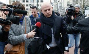 Sven Mary, l'avocat de Salah Abdeslam, à son arrivée devant la Chambre du conseil belge le 24 mars 2016 à Bruxelles