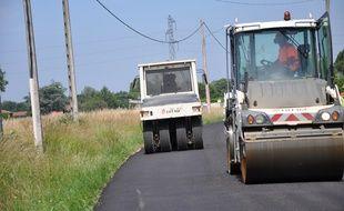 Une portion de la route entre Cornebarrieu et Pibrac, au nord de Toulouse, a été réalisé grâce à un nouveau procédé.