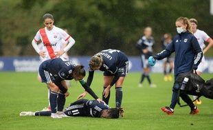 Illustration d'un match des féminines de Guingamp, ici à Bordeaux en octobre 2020.