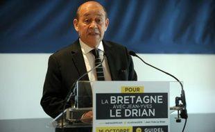 Le ministre de la Défense Jean-Yves Le Drian avait confirmé le 16 octobre à Lorient sa candidature à la présidence de la région Bretagne