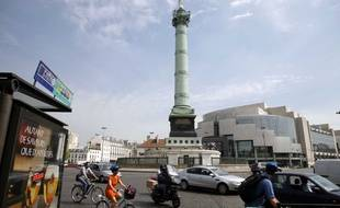 La place de la Bastille à Paris