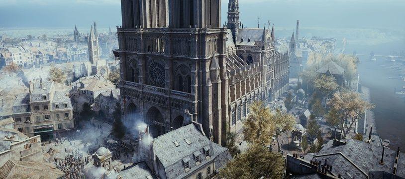 La cathédrale de Nôtre-Dame, dans Assasin's Creed Unity