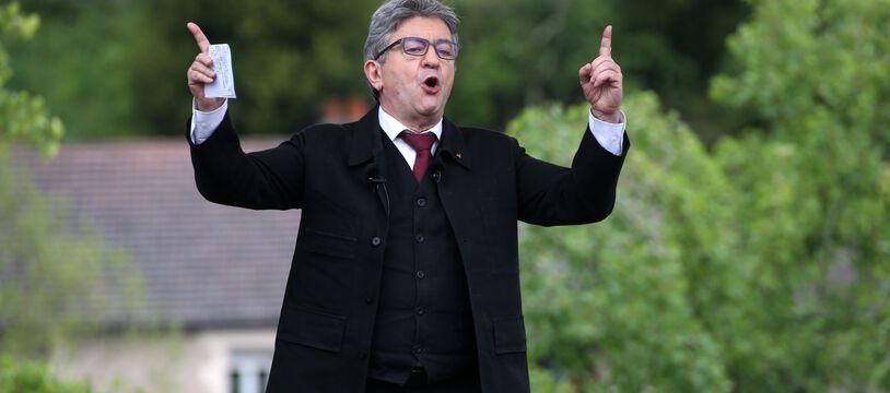 Le leader de la France Insoumise, Jean-Luc Mélenchon.
