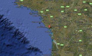 Localisation de la Tranche-sur-Mer, en Vendée.