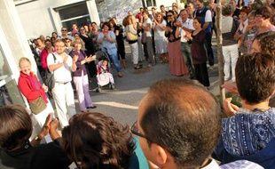 Les parents d'élèves de l'école Mi-Plaine à Meylan se sont mobilisés lundi 6septembre.