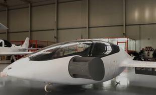 Le Lilium Jet, prototype de lasociété allemande Lilium Aviation, aeffectuéson premier vol d'essai près de Munich, en Allemagne, en avril 2017.