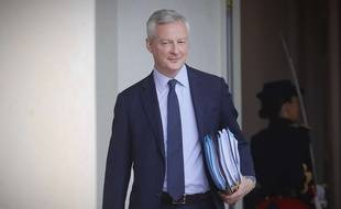 Le ministre de l'Economie Bruno Le Maire, le 15 juillet 2020, au sortir du Conseil des ministres.