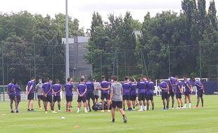 Lors de l'entraînement du TFC, le 29 juin 2020.