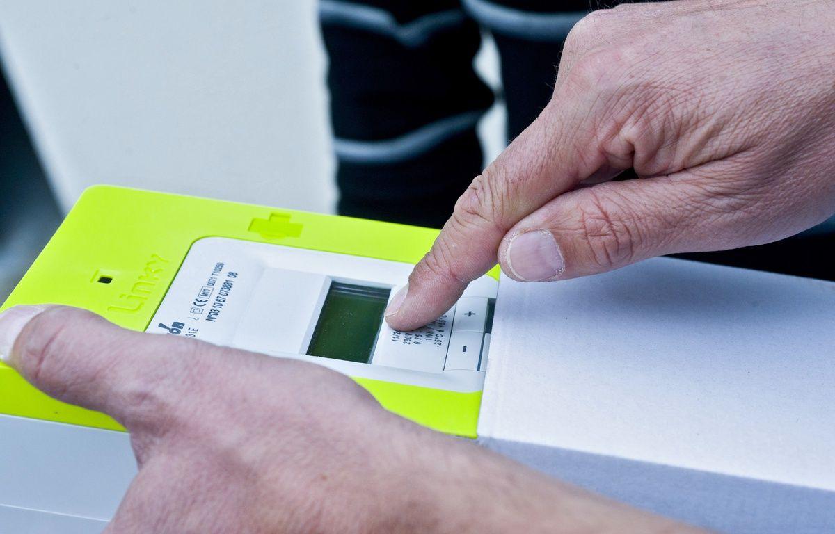 Le nouveau compteur électrique intelligent de Erdf, baptisé Linky. – ERDF