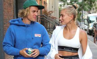 Les époux Justin et Hailey Bieber dans les rues de New York