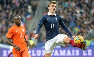 L'attaquant de l'équipe de France, Antoine Griezmann, lors de sa première sélection, face aux Pays-Bas, le 5 mars 2014.