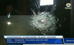 Le bus du Fenerbahçe a été la cible de tirs après un match de championnat, le 4 avril 2015.