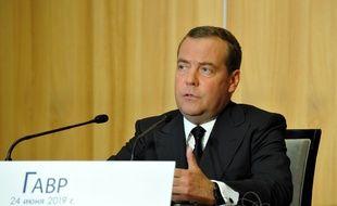 Le premier ministre russe Dimitri Medvedev, lors d'une visite en France le 24 juin 2019.