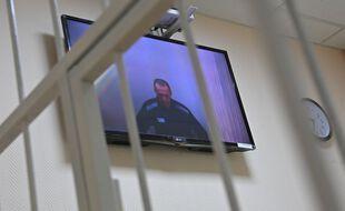 Alexeï Navalny comparaissait depuis sa prison, en visioconférence.