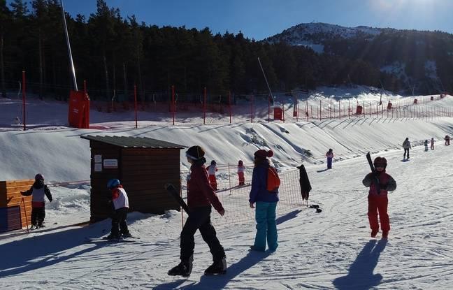 Gréolières a pu ouvrir son domaine skiable pendant les vacances de Noël.