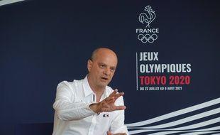 Jean-Michel Blanquer, ministre de l'Education nationale, de la Jeunesse et des Sports, à Tokyo le 25 juillet 2021.