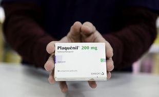 ne boîte de Plaquenil, médicament contenant de la chloroquine. (Illustration)