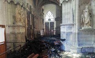 Les dégâts causés par l'incendie dans la cathédrale de Nantes, le 18 juillet 2020.